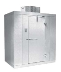 American Air Series 4' x 6' x 8' Indoor Walk-In Cooler with Floor No Refrigeration