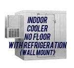 Indoor, Cooler, No Floor, with Side Mount Self-Contained Refrigeration System