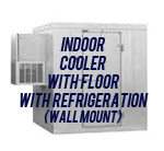 Indoor, Cooler, with Floor, with Side Mount Self-Contained Refrigeration System