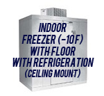 Indoor, Freezer (-10F), with Floor, with Top Mount Self-Contained Refrigeration System