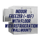 Indoor, Freezer (-10F), with Floor, with Side Mount Self-Contained Refrigeration System