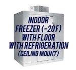 Indoor, Freezer (-20F), with Floor, with Top Mount Self-Contained Refrigeration System