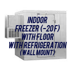 Indoor, Freezer (-20F), with Floor, with Side Mount Self-Contained Refrigeration System