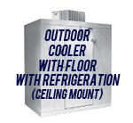 Outdoor, Cooler, with Floor, with Top Mount Self-Contained Refrigeration System