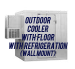 Outdoor, Cooler, with Floor, with Side Mount Self-Contained Refrigeration System