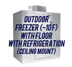 Outdoor, Freezer (-10F), with Floor, with Top Mount Self-Contained Refrigeration System