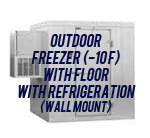 Outdoor, Freezer (-10F), with Floor, with Side Mount Self-Contained Refrigeration System