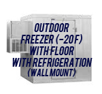 Outdoor, Freezer (-20F), with Floor, with Side Mount Self-Contained Refrigeration System