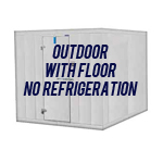 Outdoor, with Floor, No Refrigeration